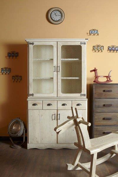 原木工坊~免費室內設計規劃  復古白收納櫃