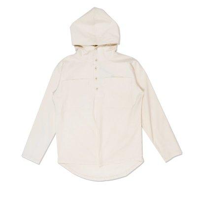 Freaky House-日本Audience 純棉排扣Pullover襯衫型帽衫T米色