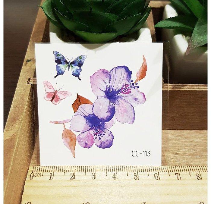 【萌古屋】花朵單圖CC-113 - 防水紋身貼紙刺青貼紙K38