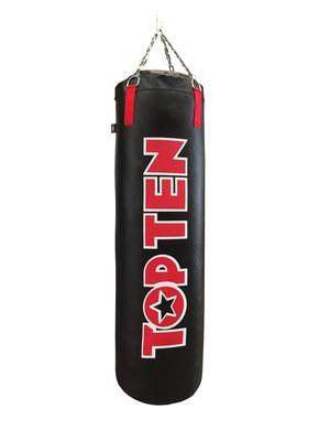 TOP TEN Heavy Bag Black/Red 大LOGO 120cm高