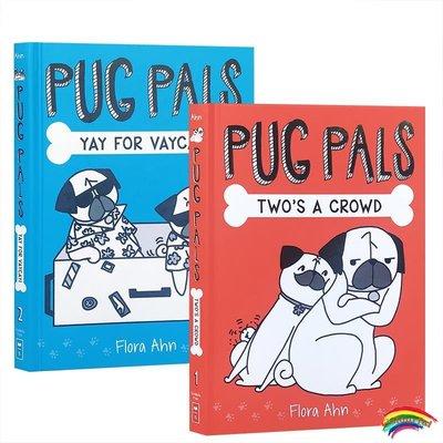 英文原版 Pug Pals系列繪本【2冊】合售 Two's A Crowd/Yay for Vaycay! 7-10歲兒童英語閱讀提升讀物書籍