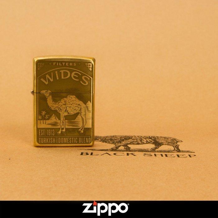 Zippo 打火機 Camel駱駝 雙面加工 駱駝主題 經典復刻版  黃銅機身 防風 煤油  經典小物 美國原廠 正品