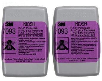 3M 7093 P100等級防塵濾罐 防塵率達99.97% 可測試配戴時氣密度型 濾棉匣 2入/包
