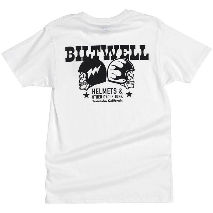 (I LOVE樂多)biltwell SKULLS T-SHIRT 雙骷髏安全帽打印 短袖T桖
