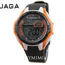 【JAYMIMI傑米】JAGA 捷卡 原廠公司貨 極限運動休閒多功能電子錶 特價490 免運 黑橙 M988