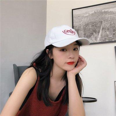 風軟妹字母刺繡軟頂棒球帽子男女情侶潮學生休閒鴨舌帽