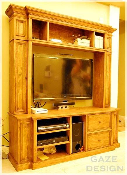 GAZE DESIGN匠司.傢俬設計-美式經典風格/原木壁牆式電視櫃/實木家具訂做