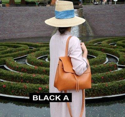 【BLACK A】獨家 Mansur Gavriel 義大利牛皮lady bag 雙色撞色 黑色x紅色/駝色x粉色/粉色