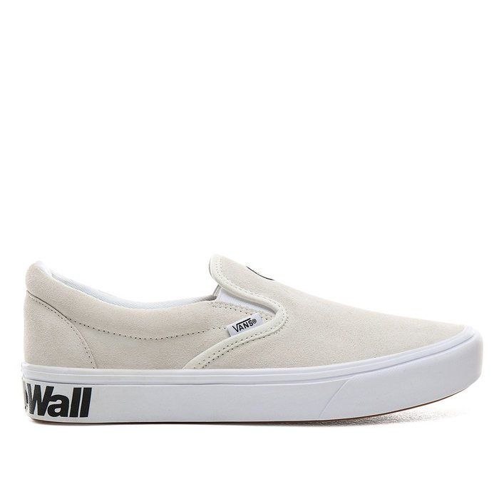 【A-KAY0】VANS 男女 SLIP-ON BLANC BLACK 麂皮 米白【VN0A3WMDVX7】
