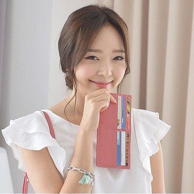 【橘子包舖】韓國正貨 FROMb 真皮超薄長夾 0.3cm [G0712] 女皮夾  防刮十字紋
