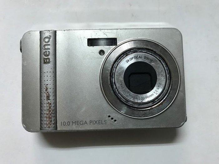 ☆手機寶藏點☆ BenQ DC E1020 數位相機 銀色 千萬畫素《附充電器+電池+記憶卡》