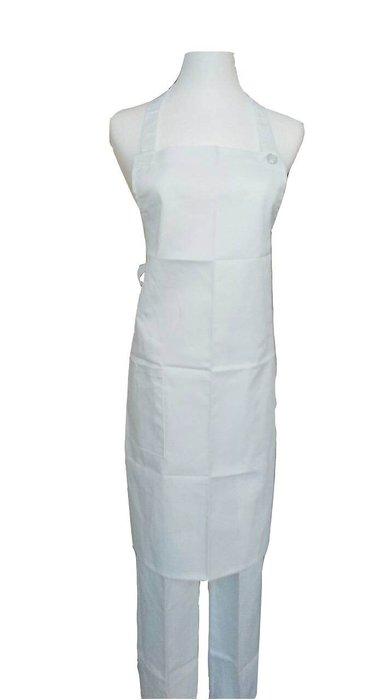 ☆°萊亞生活館 °圍裙 。全短圍裙。廚師圍裙。工作圍裙 【全短-繞頸-白色】