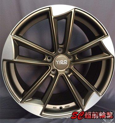 【超前輪業】全新鋁圈 類AUDI 19吋鋁圈 5孔112 8.5J ET45 金色車面