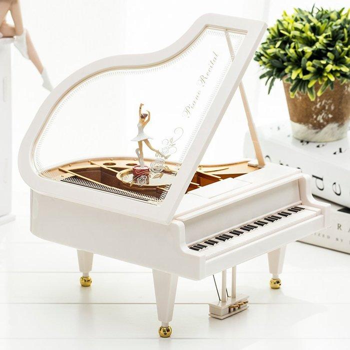 芭蕾小女孩音樂盒  鋼琴旋轉跳舞 擺件送女友禮物音樂盒 生日禮品創意(小號+中號+大號)_☆優購好SoGood☆