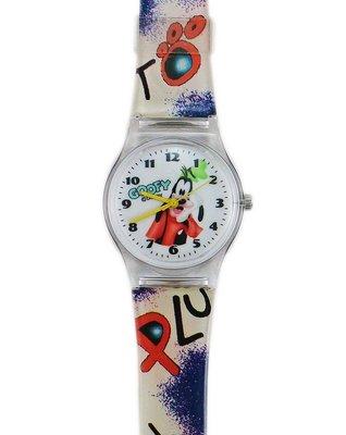【卡漫迷】 迪士尼 高飛狗 手錶 L ㊣版  Goofy   女錶 卡通錶 兒童錶 膠錶