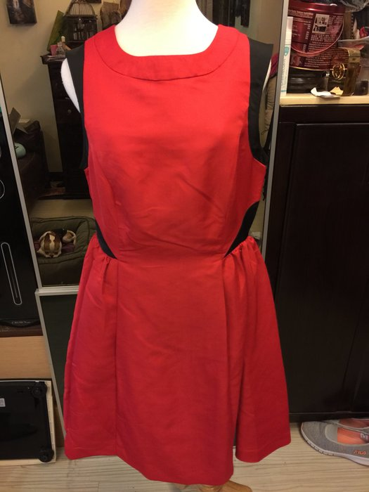 Prabal Gurung 設計師品牌紅黑短洋裝