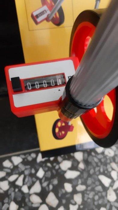 """【花蓮源利】(含稅)HOHOGA 小輪 便攜式 警察用款 直徑6吋 測距輪(6""""可伸縮桿) 道路計長器 附提袋"""