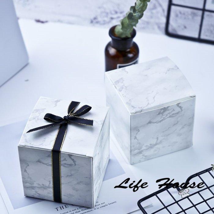大理石紙盒 方型紙盒 8x8x8 掀蓋盒 禮品盒 大理石包裝盒 烘培包裝盒  糖果盒 餅乾盒