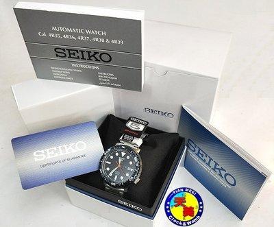 【小鮪魚】【全新原廠SEIKO】【原廠精裝盒、原廠保證書】【天美鐘錶店家直營】4R36潛水機械錶 SRPC63K1