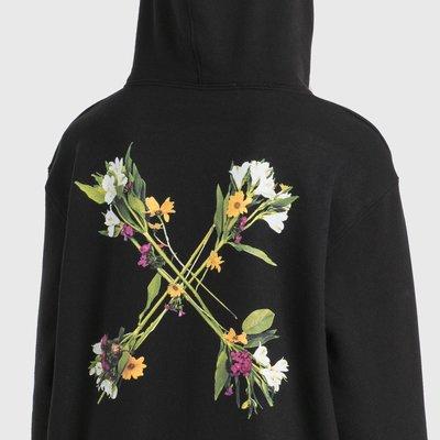 Off-White - Flock Arrow Reg Hoodie 女花卉箭頭印花帽T 超低折扣代購中
