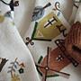 全新韓國米色可愛風車小屋長袖棉T...1元起標