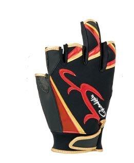 《三富釣具》GAMAKATSU 5指手套 GM-7258 L號/LL號/3L號 黑紅 商品編號495522/39/46