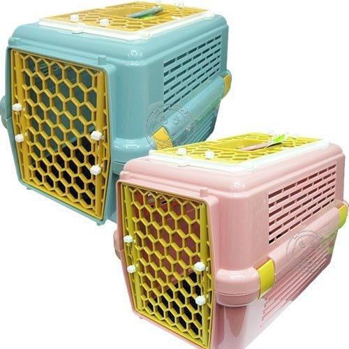 【🐱🐶培菓寵物48H出貨🐰🐹】寵物專用‧兩門雙開有天窗運輸籠843 (2種顏色) 特價529元(限宅配)