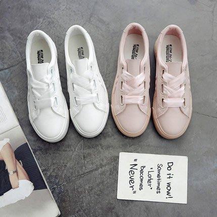 正韓 2018新款帆布鞋女秋季透氣街拍小白鞋女鞋學生韓版百搭港風板鞋潮6-23