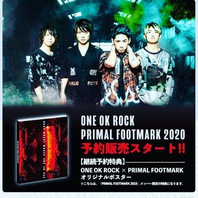 特惠代購 特典海報付(折) FC限定 ONE OK ROCK PRIMAL FOOTMARK 2020(12/31為止)