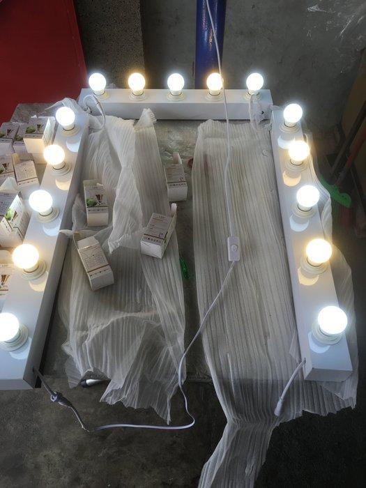☆彩妝大師☆ 全新原廠專業化妝燈座 60公分 化妝燈 5 LED燈化妝補光 燈泡立鏡 時尚燈鏡組 化妝台 工作室髮型店