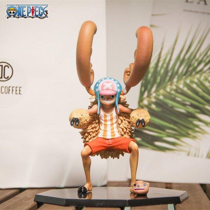 @西西小鋪海賊王手辦ZERO20周年十人草帽團2代變身喬巴動畫版擺件公仔禮物