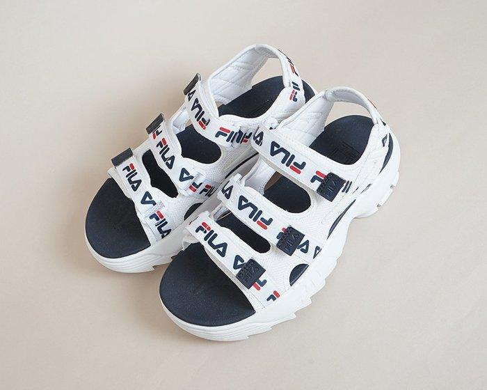 【Luxury】FILA Disrupter 2 鋸齒鞋 厚底涼鞋 鋸齒涼鞋 魔鬼氈 防水 三槓 男鞋 女鞋 正品代購