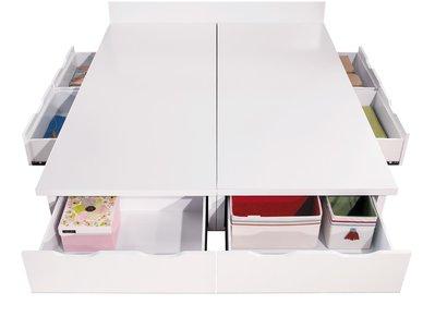 HOME MALL~童話白色單人3.5尺五抽床底 $5700~(雙北市免運費)7S