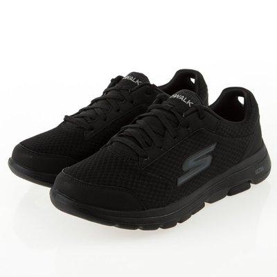【R.T.G】SKECHERS GO WALK 5 全黑 健走 網布 透氣 避震 舒適 男鞋 55509BBK
