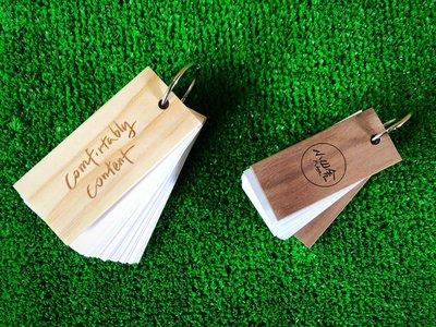 竹藝坊-客製木頭封面單字本/便條紙/便條本/單字卡/手卡/筆記本(可雷射雕刻,費用另計)