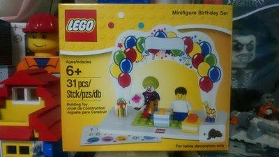 台南東區 正版Lego 樂高-全新未拆- Minifigure Birthday Set 小丑生日人偶組