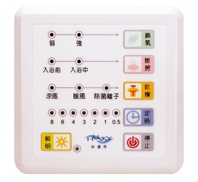 《101衛浴精品》HUSKY哈適奇浴室暖房多功能乾燥機 GH-737 控制面板【免運費】