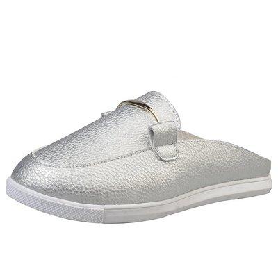 平底包頭拖鞋女春夏季新款韓版時尚外穿半拖平跟百搭女鞋小白鞋 AD560