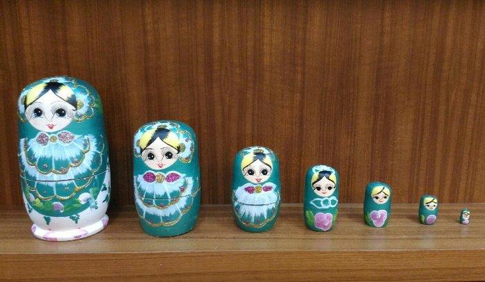 俄羅斯祈願娃娃~~7件式