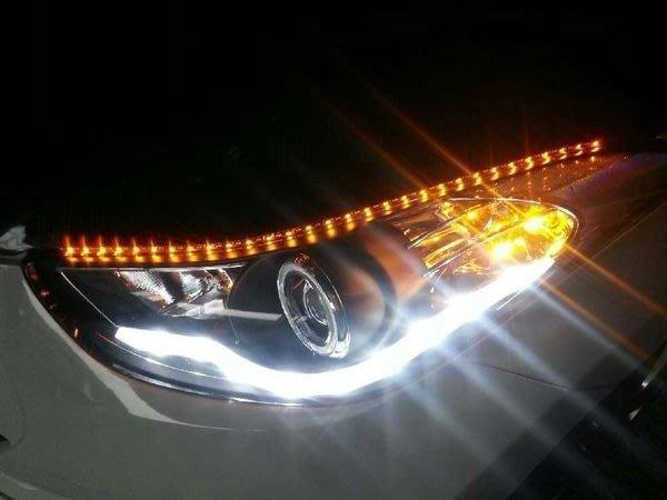 ◇光速LED精品◇60CM 60LED SMD  燈眉 側面發光 側發光 轉向燈 淚眼燈 黃白雙色 直購599元.
