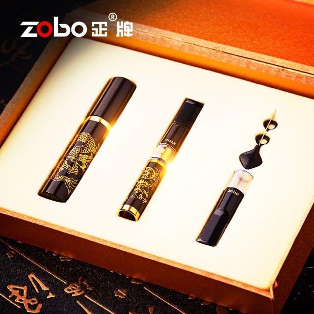 【MEGA】🚚免運 ZOBO 金屬鋼琴烤漆 黑金龍紋 循環型 磁石拉桿微孔過濾 煙嘴 濾嘴 保護套 禮盒 Filter