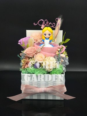 愛麗絲 Alice in wonderland 保鮮花 花盒