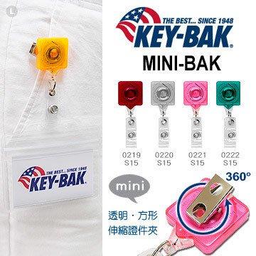 【angel 精品館 】KEY BAK MINI-BAK 透明方形伸縮證件夾_旋轉背夾 S15 系列