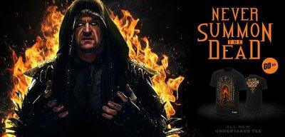 ☆阿Su倉庫☆WWE摔角 Undertaker Never Summon The Dead T-Shirt UT死神召喚