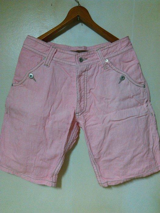 古著風 Vintage 馬卡龍色系 燈芯絨 直紋絨 粉紅色 時裝 休閒短褲 潮人著用款 G-Dragon PINK