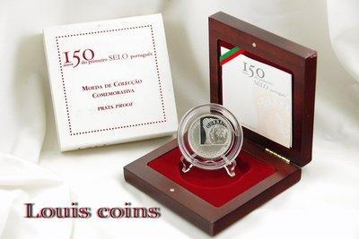 【Louis Coins】F024‧Portugal‧2003葡萄牙‧郵票發行150年紀念精鑄銀幣