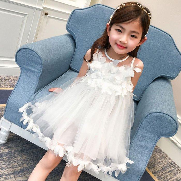 女童連身裙  夏裝  兒童裝公主裙紗裙   寶寶背心裙子—莎芭