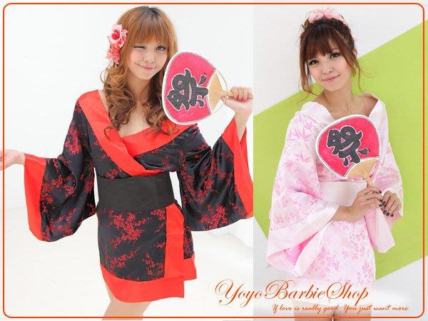 【YOYO芭比小舖】M-990日式短和服兩色|專賣學生服.賽車服.護士服.空姐服等COS服飾