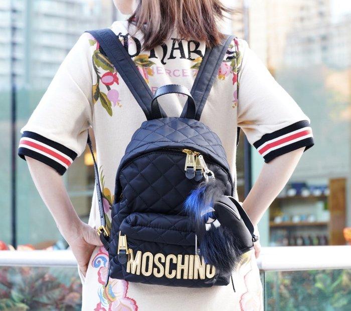 Moschino backpack 小型後背包 黑金 MOSCHINO 現貨