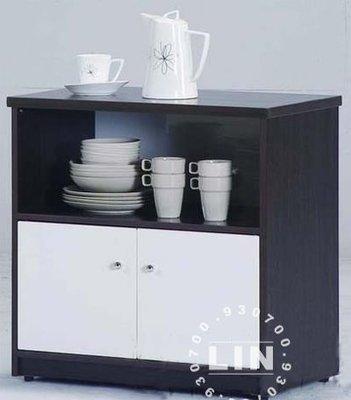 【品特優家具倉儲】759-05收納櫃餐櫃塑鋼碗碟架C-141胡桃/白